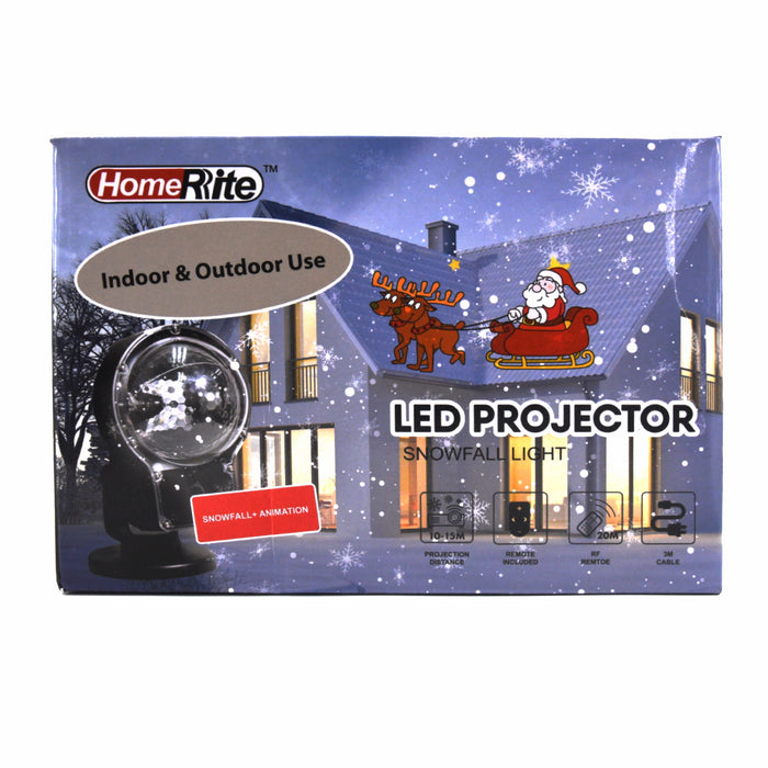 HomeRite LED Snowflake Laser Projection