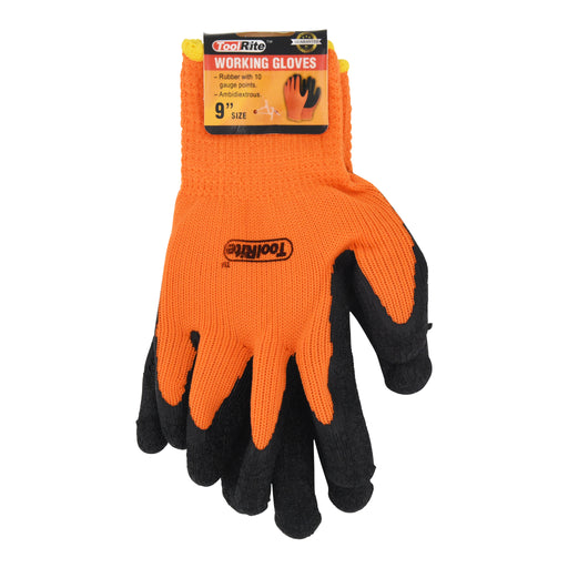 "9"" Ambidextrous Rubber Working Gloves"