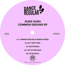 Duke Hugh - Common Ground EP DR004 front label