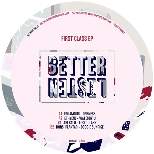 Various - First Class EP - BLRVA001 front cover
