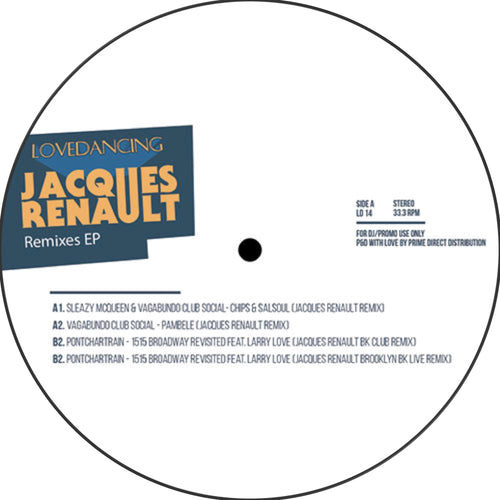 Various - Jacques Renault Remixes front cover