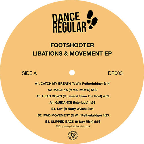 Footshooter - Libations & Movement EP front label