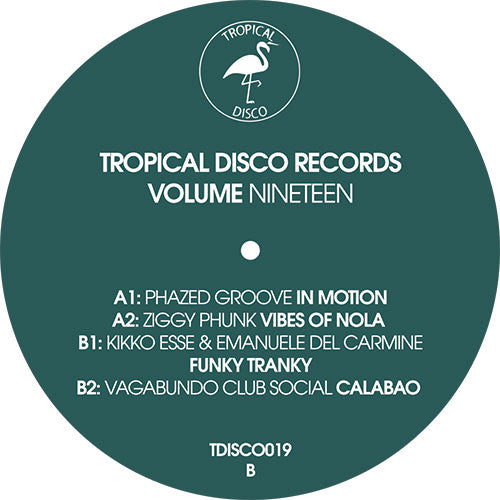 Various - Tropical Disco Records Vol. 19 EP front label