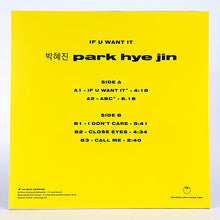 Park Hye Jin‎ – If You Want It EP back cover