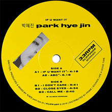 Park Hye Jin‎ – If You Want It EP front label