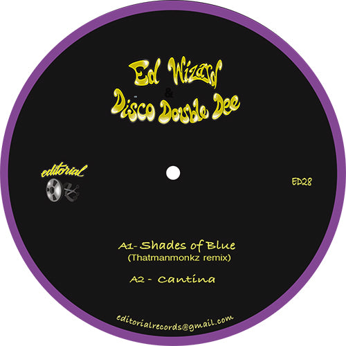 Ed Wizard & Disco Double Dee, Hotmood EP front label