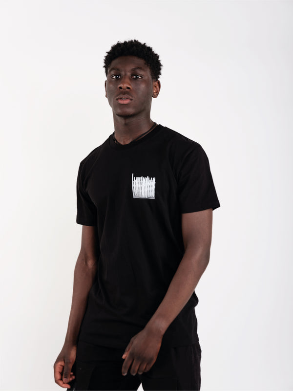 LUMINOUS DRIP T-SHIRT - BLACK - We Are Luminous London.