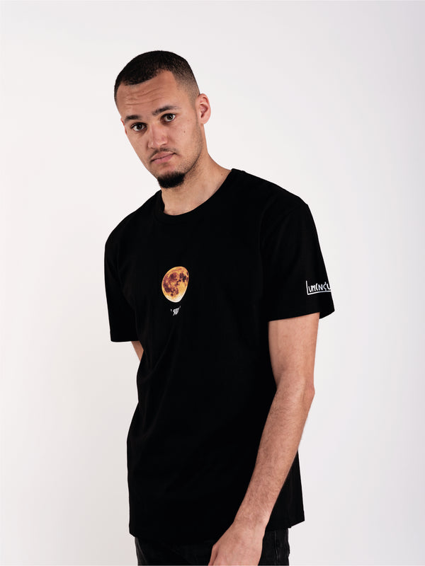 MOON SIGN T-SHIRT - BLACK - We Are Luminous London.