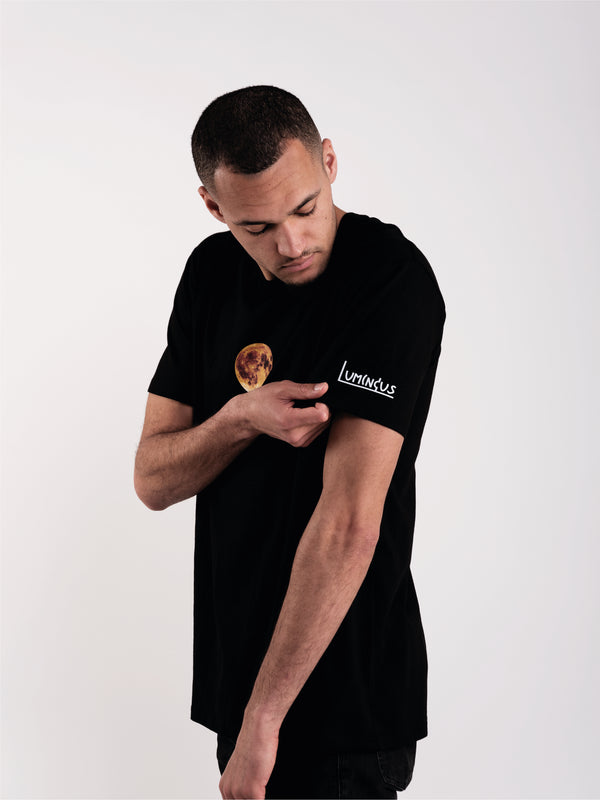 MOON SIGN T-SHIRT - BLACK - We Are Luminous London