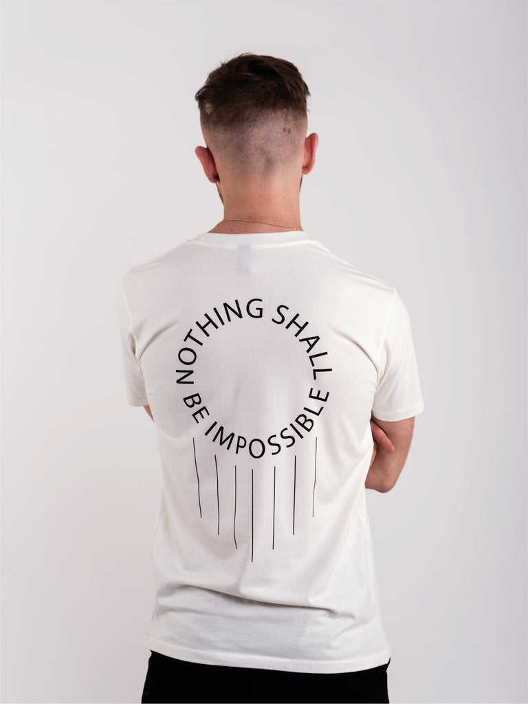 NOTHING SHALL BE IMPOSSIBLE T-SHIRT - CREAM - We Are Luminous London.