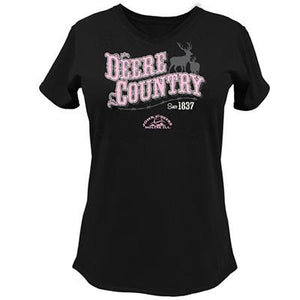 Womens Deere Country V Neck Tee