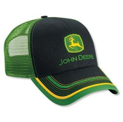John Deere Twill And Mesh Cap With Bill Accents