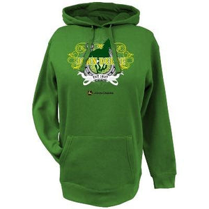 Womens Green John Deere Horse Fleece