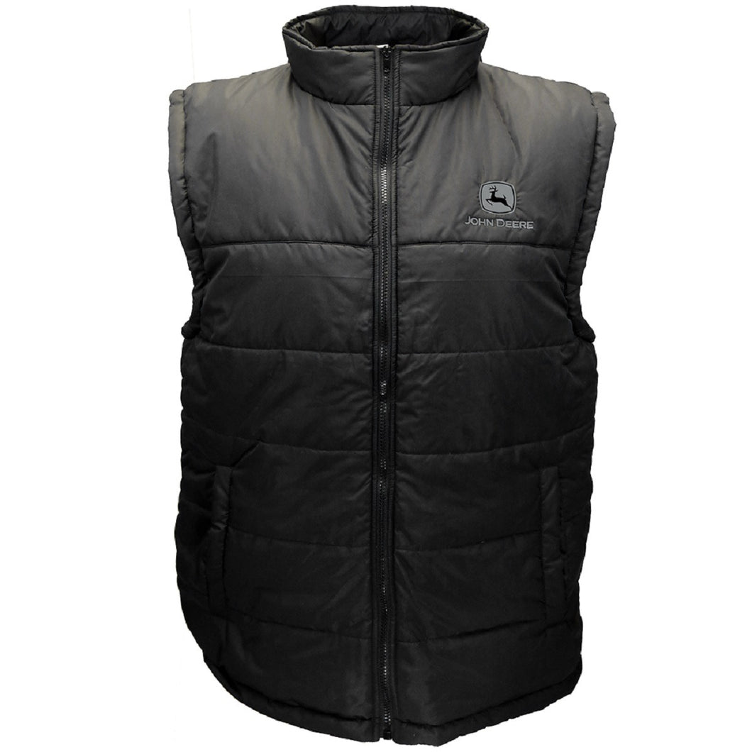 Men's Black Polyfill Zipper Vest