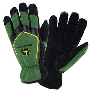 Slip-On Lined Leather Palm Glove - Large
