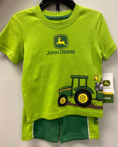 Boy's Green Short Set