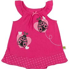 Infant Girl Pink Ladybug Romper Dress