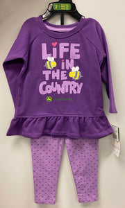 Girl's Purple Country Pants Set