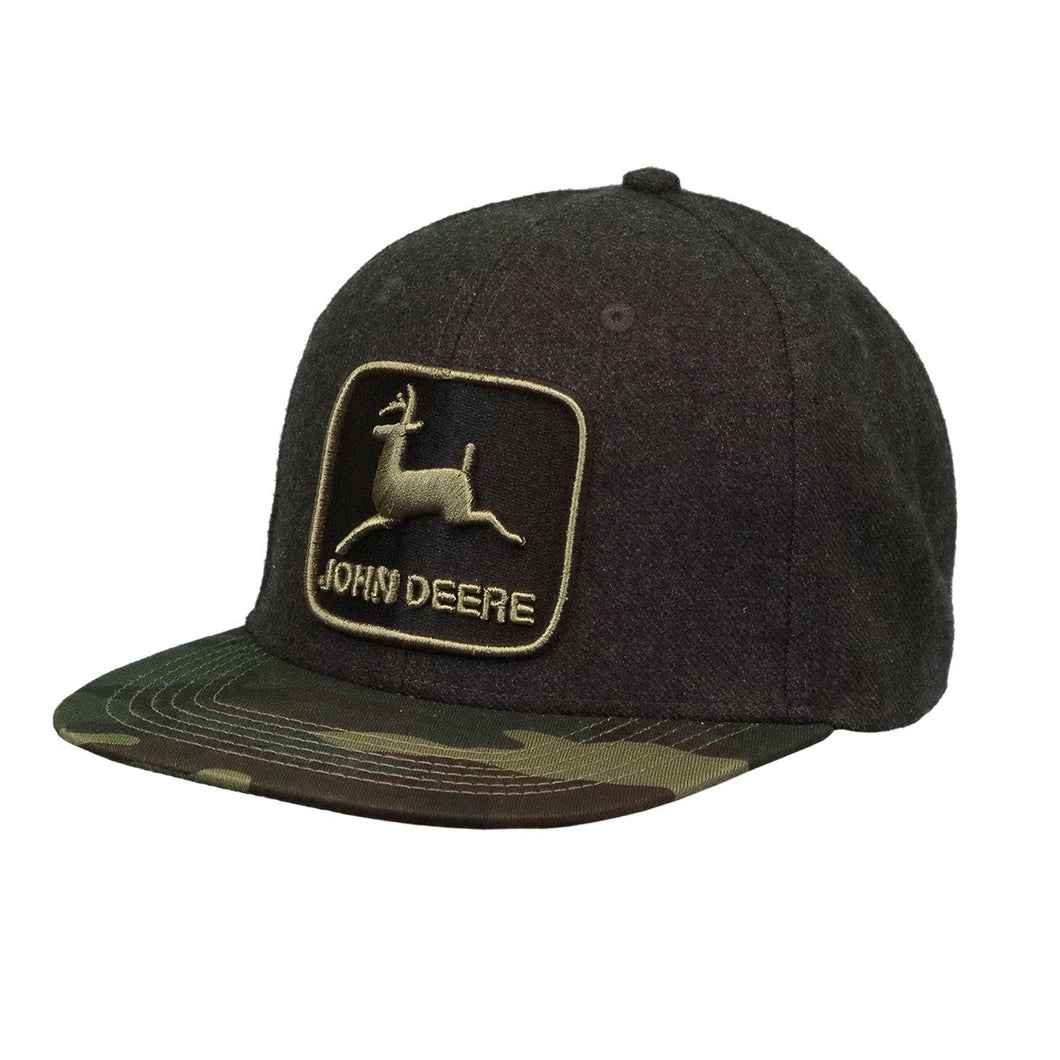 Mens Camo Flat Bill Cap
