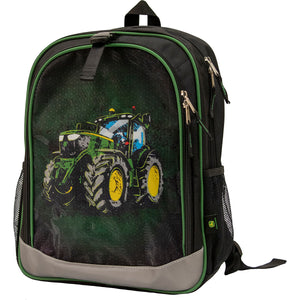 Children's Black Tractor Backpack