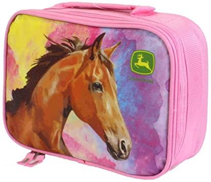 John Deere Pink Horse Lunch Bag