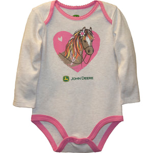 Infant Girl Horse Heart Bodyshirt