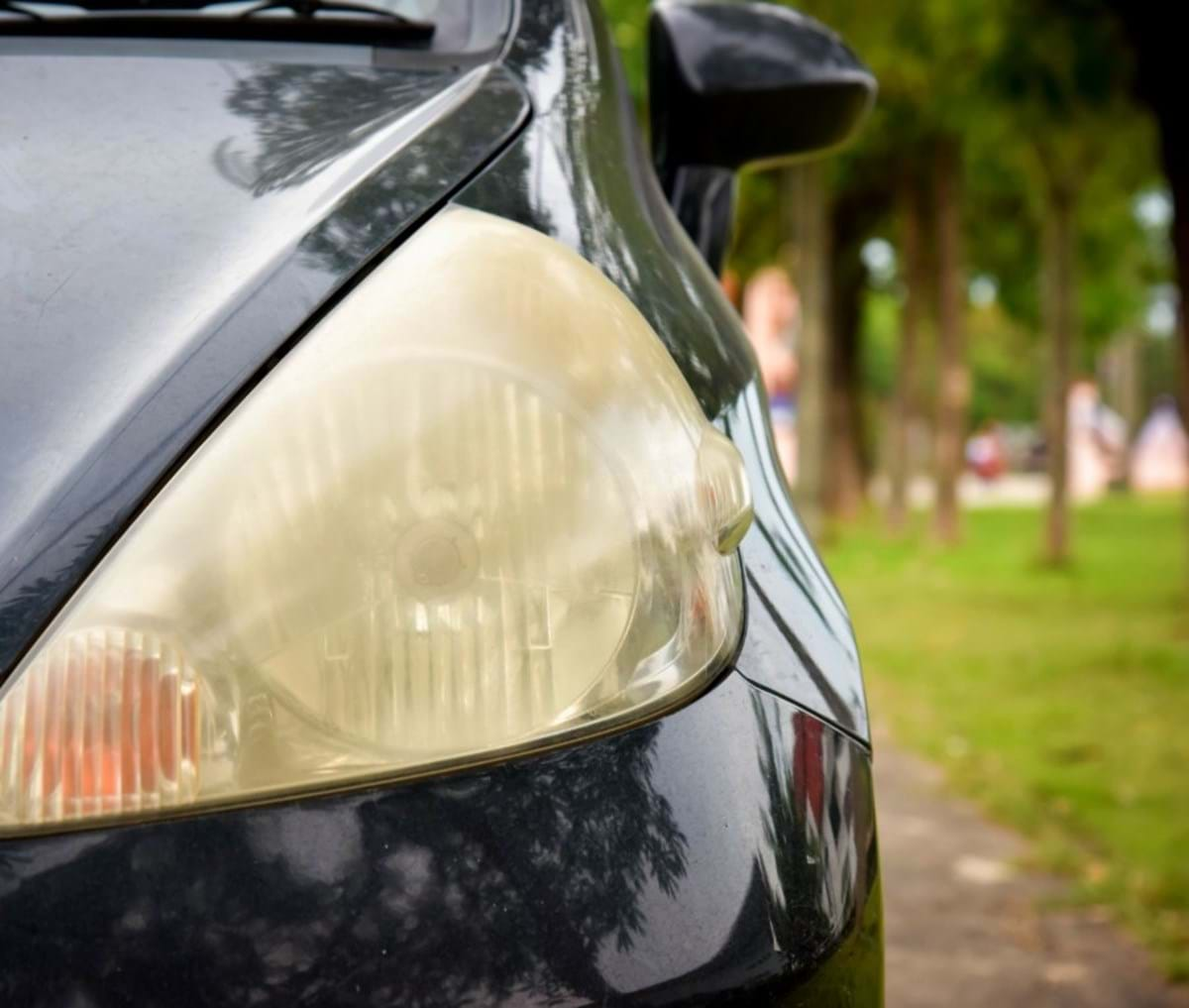clean/restore headlights - yellow/cloudy headlight