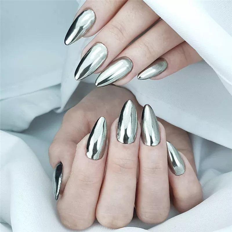 BORN PRETTY Silver Mirror Chrome Nail  Powder 01