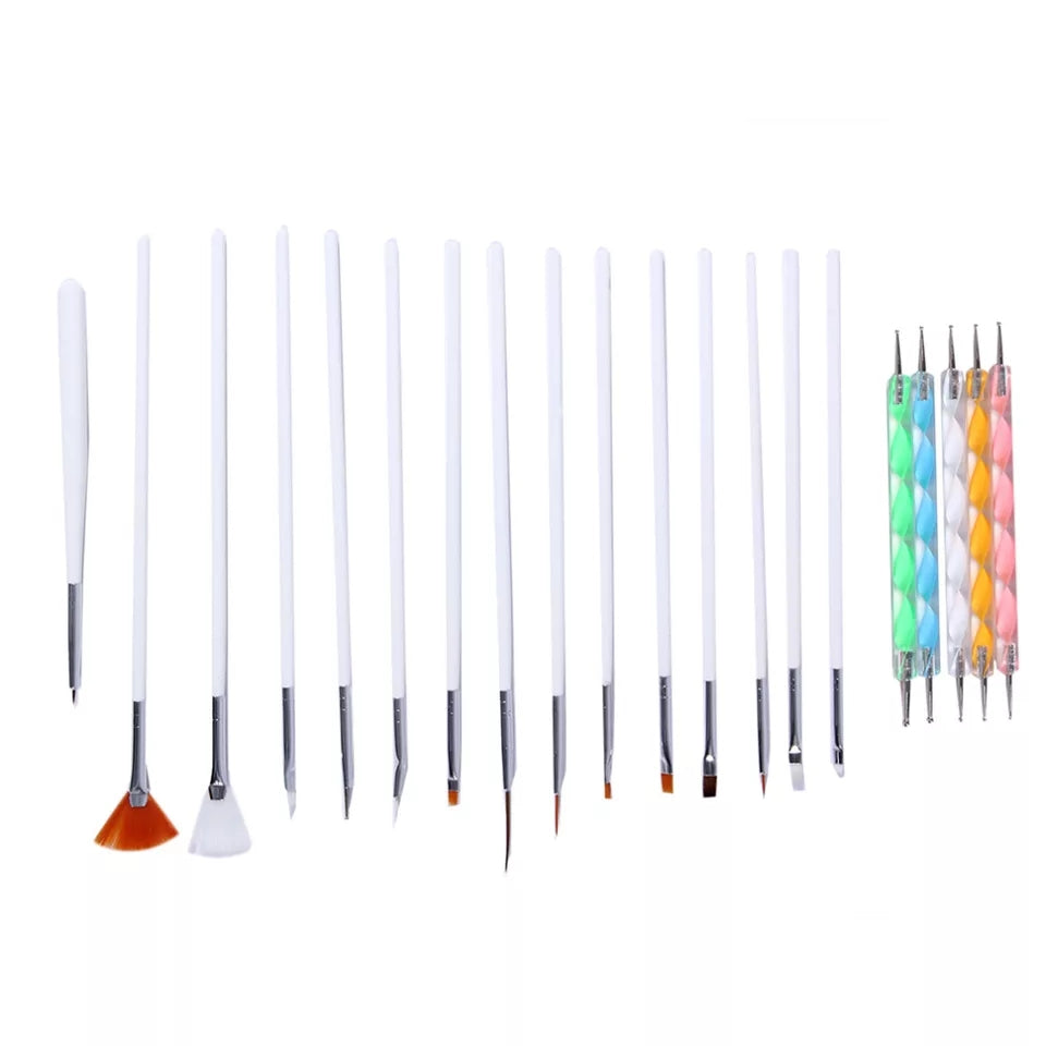 Set of Brushes and Dotting Tools