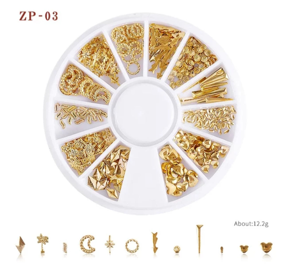 Gold Metal Rivets Nail Wheel (ZP-03)