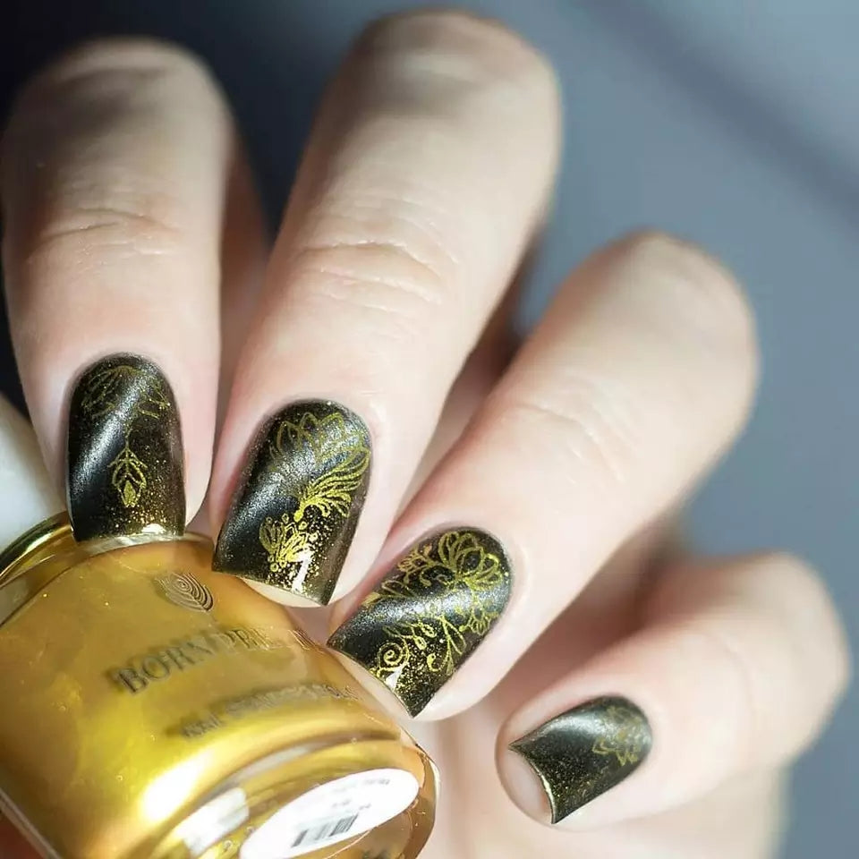 Born  Pretty Gold Stamping Nail Polish 6ml - In Fire