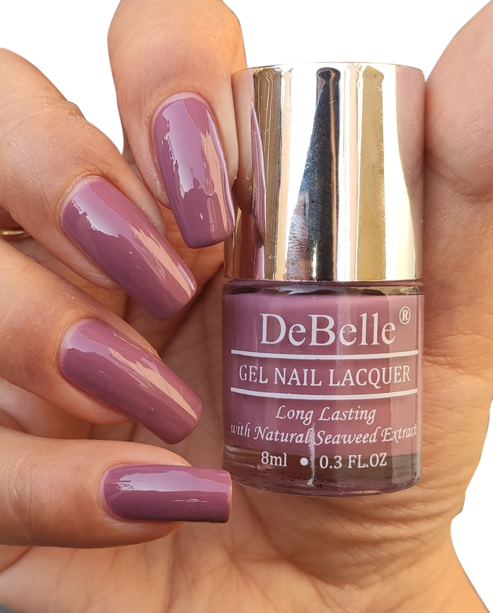 DeBelle Gel Nail Lacquer Laura Aura  (Light Mauve Nail Polish), 8ml
