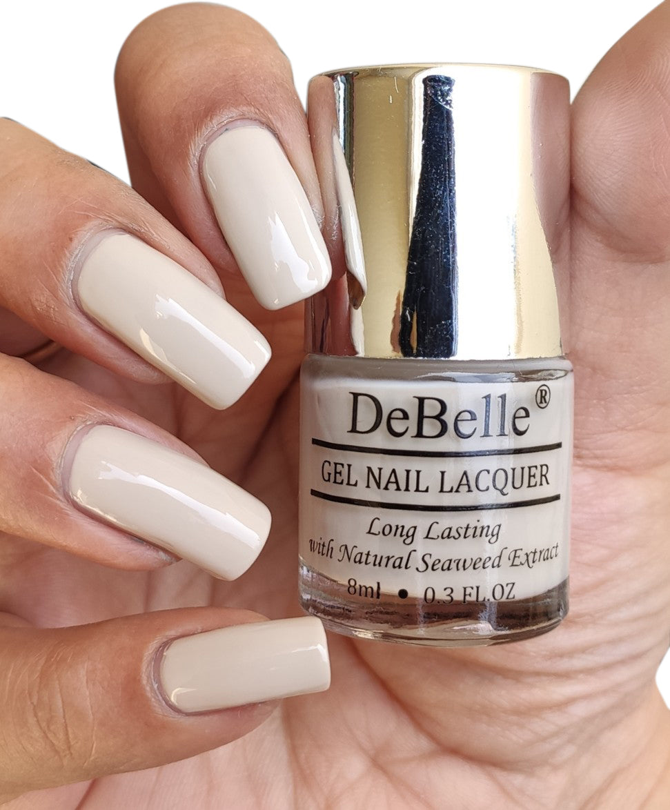 DeBelle Gel Nail Lacquer Natural Blush (Light Nude Nail Polish), 8ml