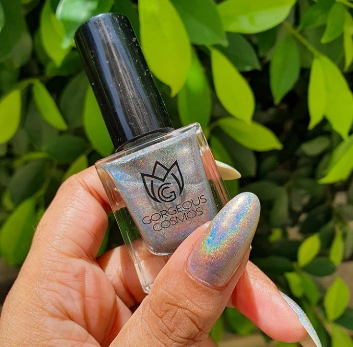 G.C. Silver Holographic Nail Polish - I Love My Polish
