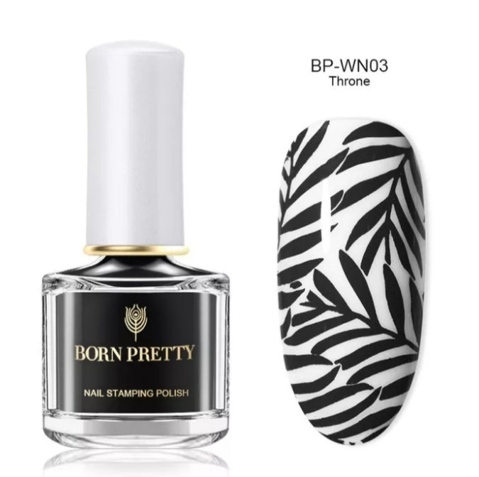 Born Pretty Black Stamping Nail Polish 6ml - Throne