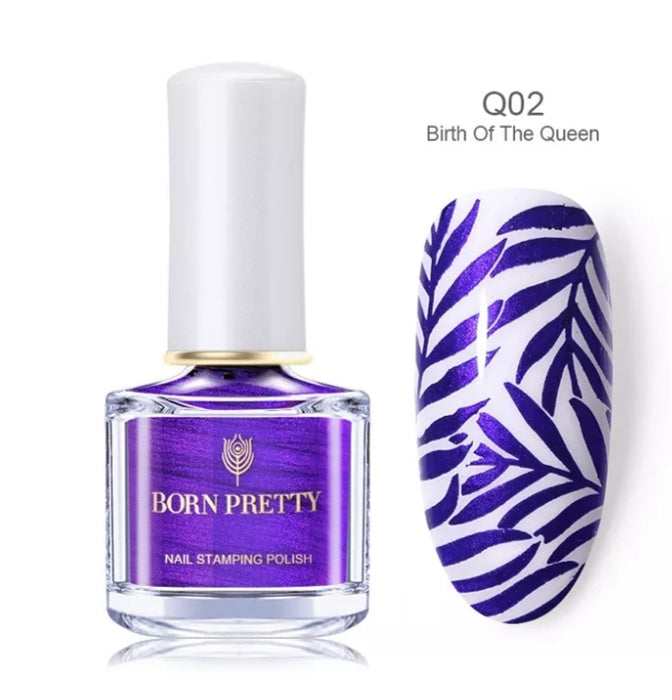 Born  Pretty Purple Stamping Nail Polish 6ml