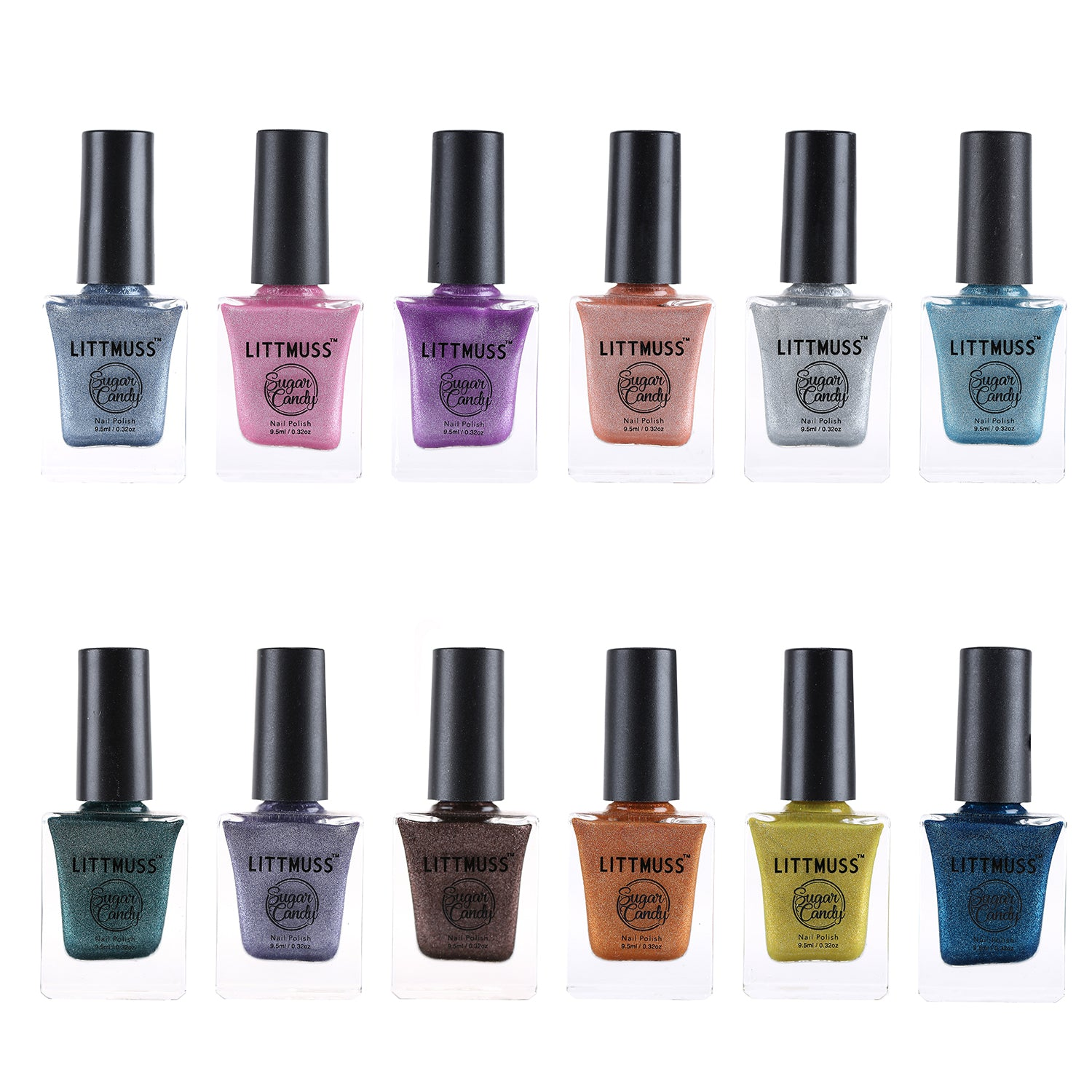 LITTMUSS Sugar Candy Nail Polish Collection(Set of 12)