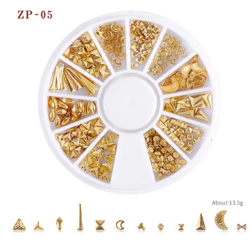 Gold Box Mixed Metal Rivets Nail Wheel ( ZP-05)