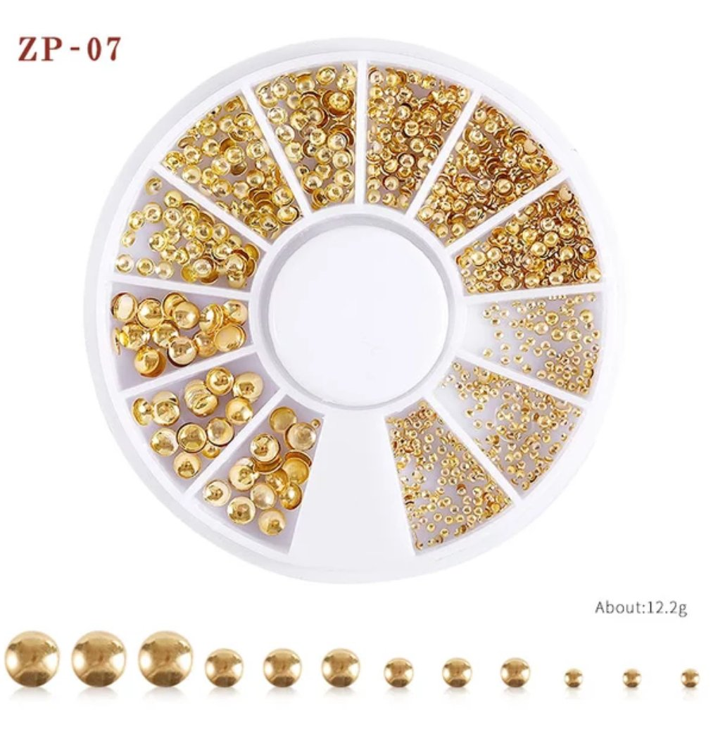 Gold Box Mixed Metal Rivets Nail Wheel ( ZP-07)