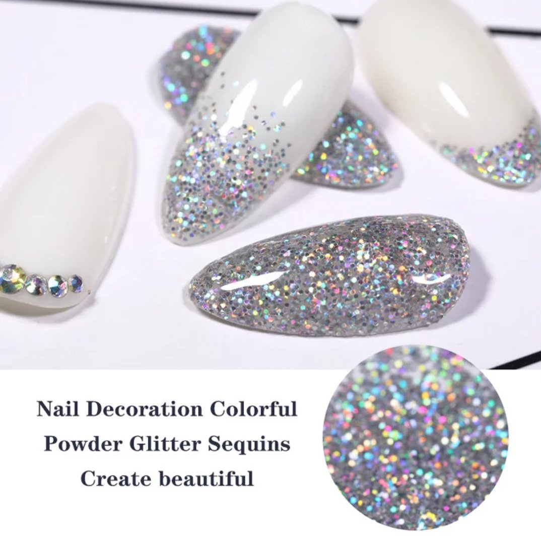 3 Sizes Silver Holographic Glitter Bottle