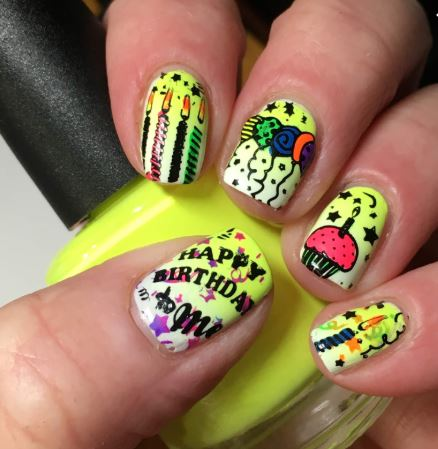 MoYou London Birthday Themed Stamping Plate
