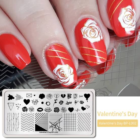 Born Pretty Nail Stamping Plates  Valentine's Day Line Rose