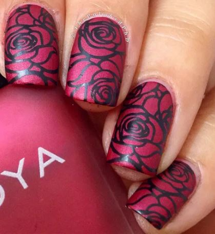 Born Pretty Rose Nail Stamping Plate
