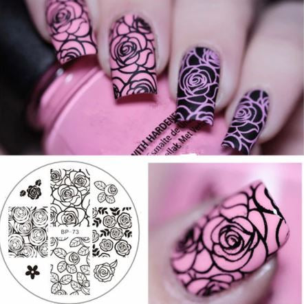 Born Pretty Rose Nail Stamping Plate - I Love My Polish