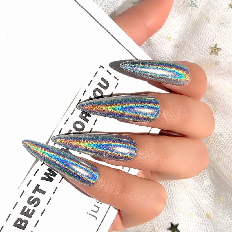 Silver Holographic Nail Powder