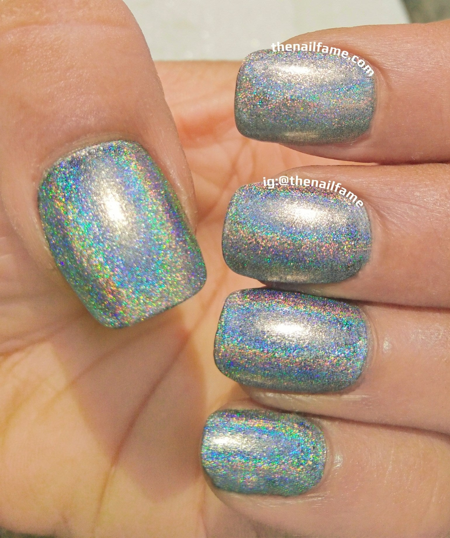 BORN PRETTY. Silver Holographic Nail Polish- Zeus Sword