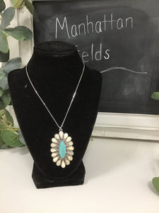 Turquoise flower necklace