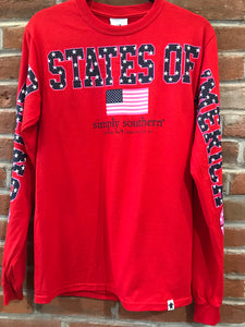 Simply Southern USA Long Sleeve Top