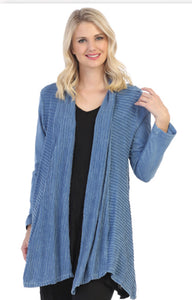 Mineral Washed Knit Cardigan