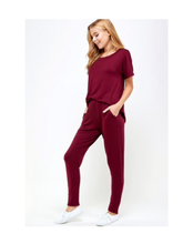 Load image into Gallery viewer, Rayon Jersey Top and Jogger Set